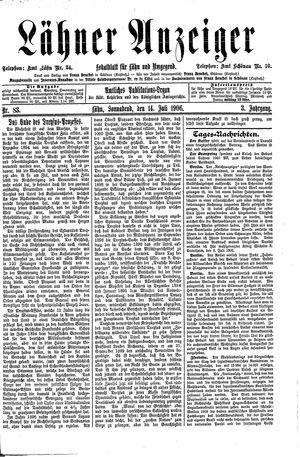 Lähner Anzeiger vom 14.07.1906