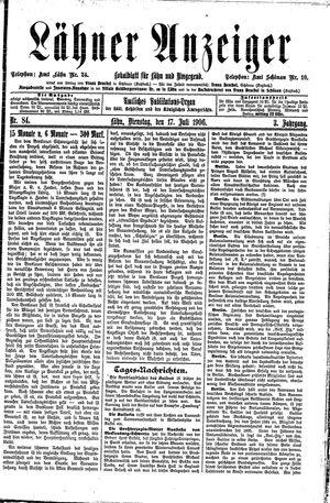 Lähner Anzeiger vom 17.07.1906