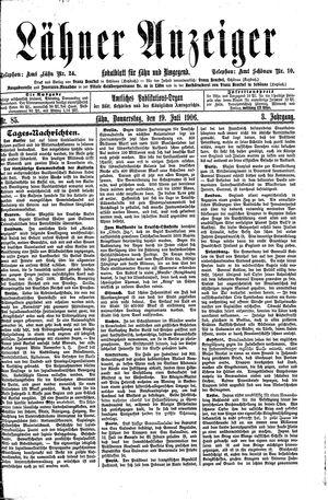 Lähner Anzeiger vom 19.07.1906