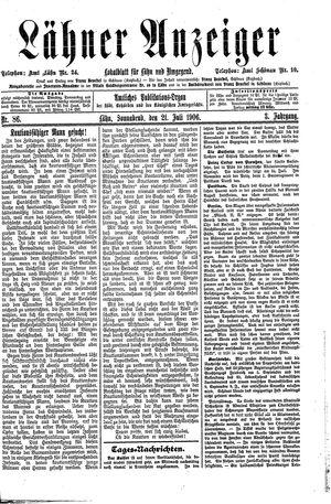 Lähner Anzeiger vom 21.07.1906