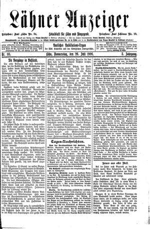 Lähner Anzeiger on Jul 26, 1906