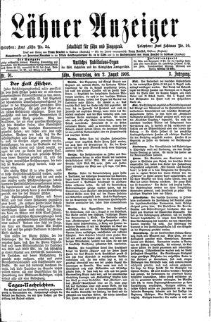 Lähner Anzeiger vom 02.08.1906