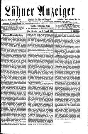 Lähner Anzeiger vom 07.08.1906