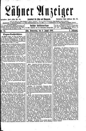 Lähner Anzeiger vom 09.08.1906
