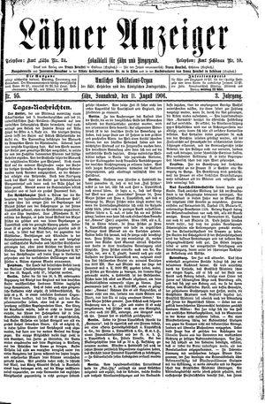 Lähner Anzeiger vom 11.08.1906