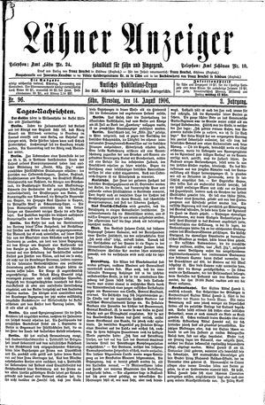Lähner Anzeiger on Aug 14, 1906