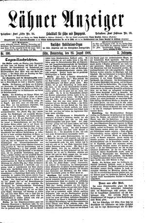 Lähner Anzeiger vom 23.08.1906