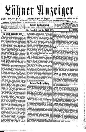 Lähner Anzeiger vom 25.08.1906