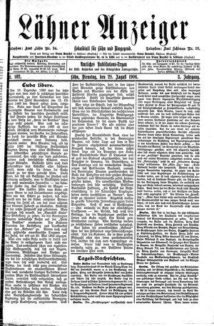 Lähner Anzeiger vom 28.08.1906