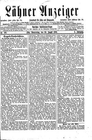 Lähner Anzeiger vom 30.08.1906