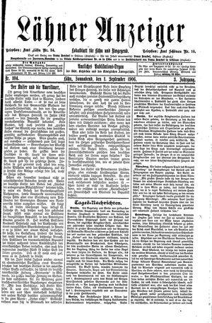 Lähner Anzeiger vom 01.09.1906