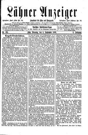 Lähner Anzeiger on Sep 4, 1906