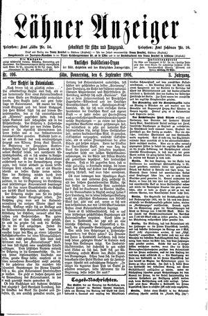 Lähner Anzeiger vom 06.09.1906
