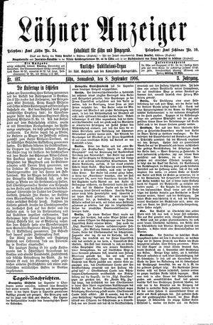 Lähner Anzeiger vom 08.09.1906