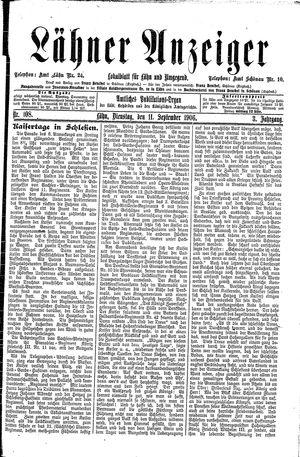 Lähner Anzeiger on Sep 11, 1906