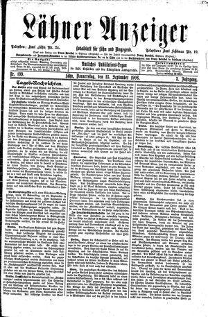 Lähner Anzeiger vom 13.09.1906