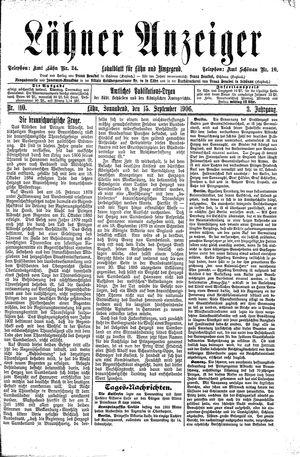 Lähner Anzeiger vom 15.09.1906