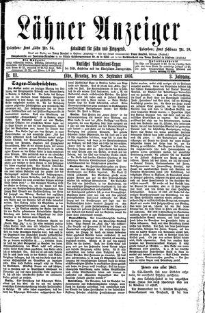 Lähner Anzeiger vom 18.09.1906