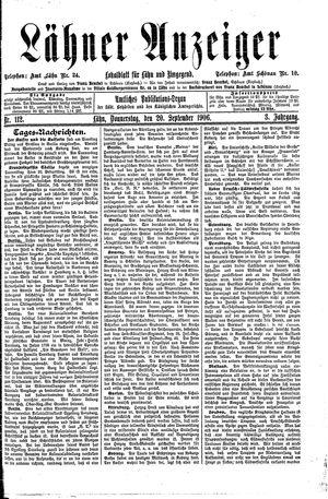Lähner Anzeiger vom 20.09.1906