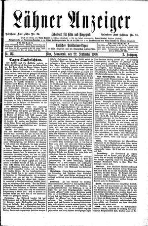 Lähner Anzeiger vom 22.09.1906