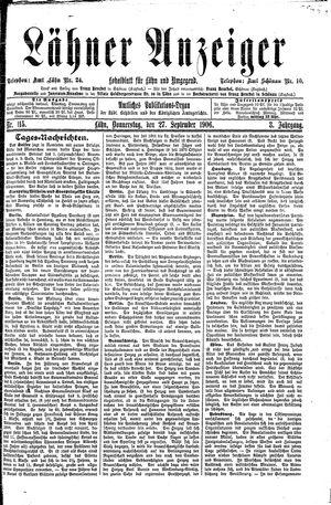 Lähner Anzeiger vom 27.09.1906