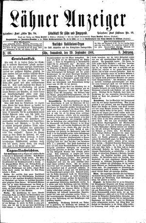 Lähner Anzeiger on Sep 29, 1906