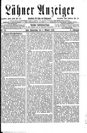 Lähner Anzeiger vom 04.10.1906