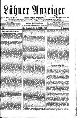 Lähner Anzeiger vom 06.10.1906