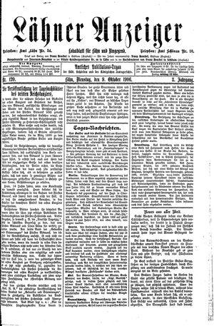 Lähner Anzeiger vom 09.10.1906