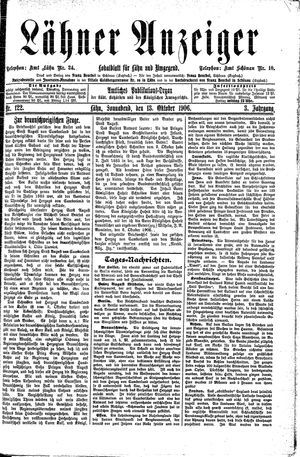 Lähner Anzeiger on Oct 13, 1906