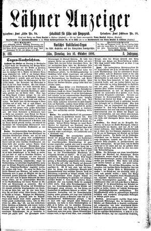 Lähner Anzeiger vom 16.10.1906