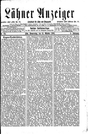 Lähner Anzeiger on Oct 18, 1906
