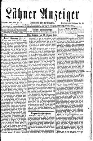Lähner Anzeiger vom 23.10.1906