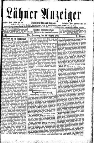 Lähner Anzeiger vom 25.10.1906
