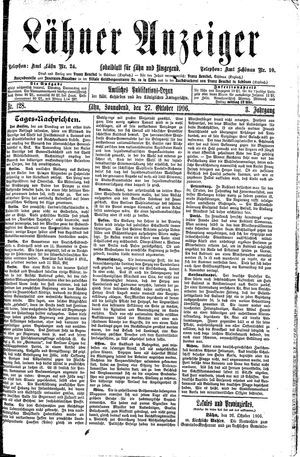 Lähner Anzeiger vom 27.10.1906