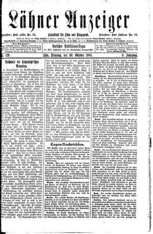 Lähner Anzeiger vom 30.10.1906