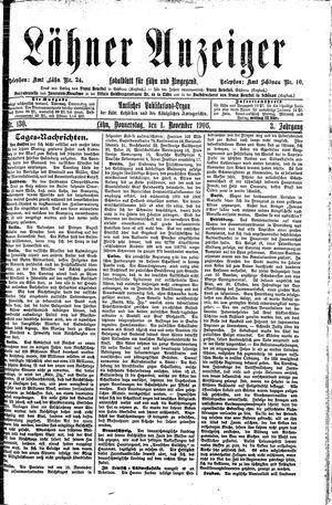 Lähner Anzeiger vom 01.11.1906