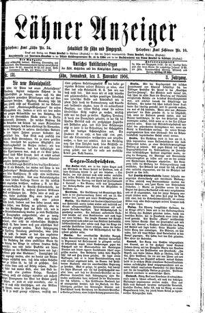 Lähner Anzeiger vom 03.11.1906