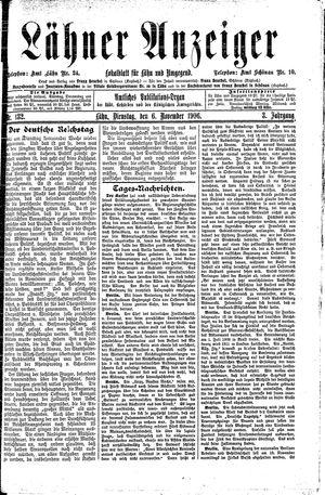 Lähner Anzeiger vom 06.11.1906