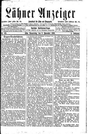 Lähner Anzeiger on Nov 8, 1906