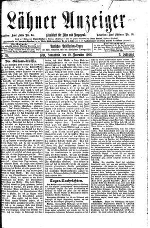 Lähner Anzeiger vom 10.11.1906