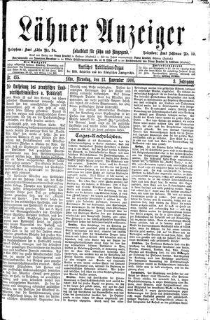 Lähner Anzeiger vom 13.11.1906