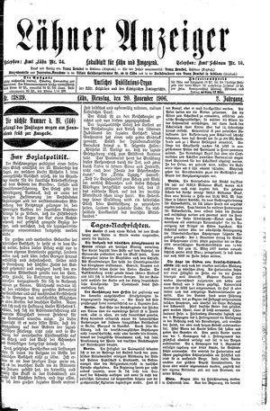 Lähner Anzeiger vom 20.11.1906