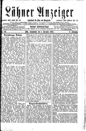 Lähner Anzeiger vom 01.12.1906