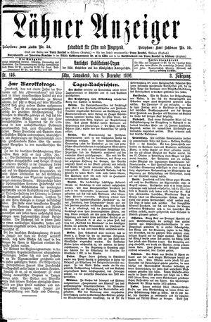 Lähner Anzeiger vom 08.12.1906