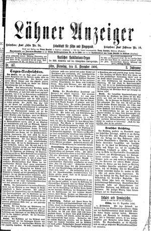 Lähner Anzeiger vom 11.12.1906