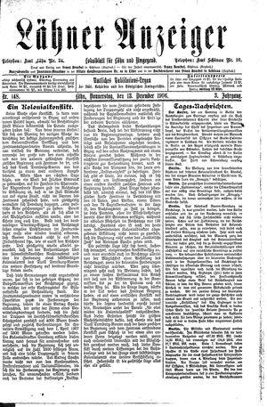 Lähner Anzeiger vom 13.12.1906