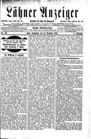 Lähner Anzeiger vom 15.12.1906