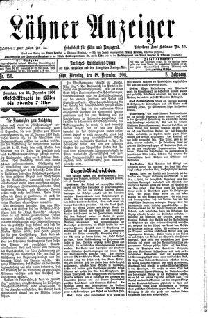 Lähner Anzeiger vom 18.12.1906