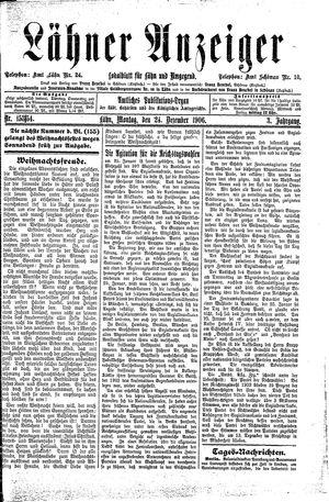 Lähner Anzeiger vom 24.12.1906